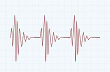 Heart Line Graph. Vector Illustration