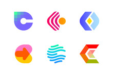 Modern Logo Template Or Icon Of Abstract Letter C For Cryptocurrency And Blockchain Industry