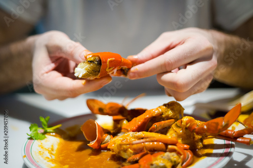 Singapore style hot chilli crab
