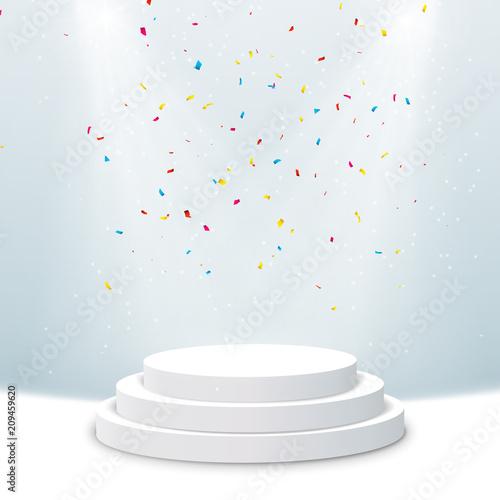 Fotografie, Obraz  Illuminated podium background