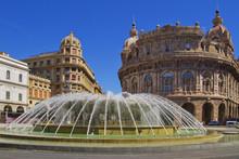 Genova, Piazza De Ferrari, Liguria, Italia, Europa, Italy