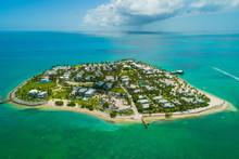 Aerial Sunset Island Key West Florida Turquoise