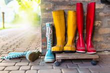 Colorful Rain Boots Concept