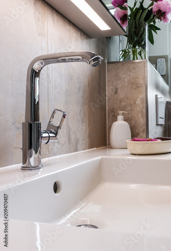 Modernes Badezimmer Armatur Buy This Stock Photo And Explore