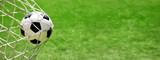 Fototapeta sport - Ball im Netz