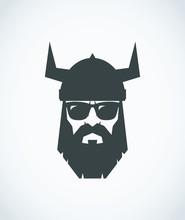 Bearded Viking Wearing Sunglas...