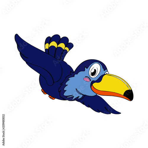 Photo Stands Birds, bees Parrot cartoon illustration isolated on white background for children color book