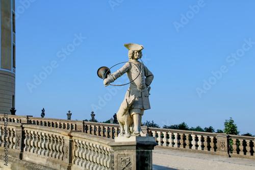 Foto op Plexiglas Kiev Figur am Schloss Moritzburg bei Dresden