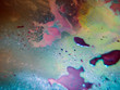 the chemical reaction of the paint with water