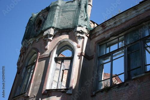 Foto op Canvas Oude gebouw old building
