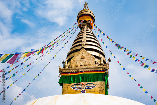 Boudhanath Stupa in Kathmandu valley, Nepal Wallpaper Mural
