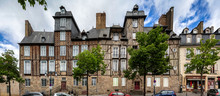 A Panoramic View Of The Half Timbered Houses In The Stunning Town Of Rennes, Brittany