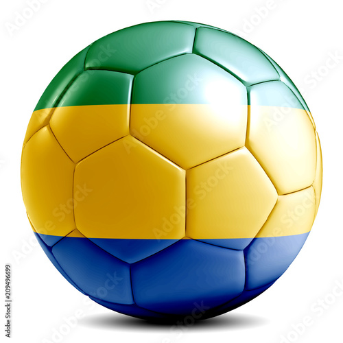 Fotografie, Obraz  Gabon soccer ball football futbol isolated