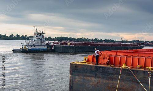 Photo Tow Boat and barge industry