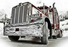 Klasyczna Amerykańska Ciężarówka