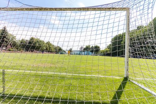 Obraz Leeres Fußball-Tor - fototapety do salonu