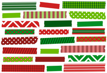 Christmas Red And Green Washi ...