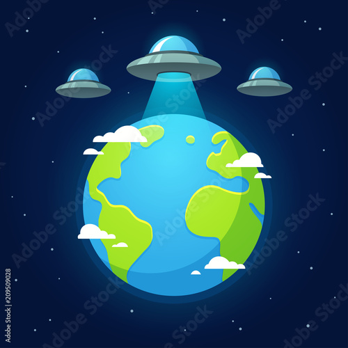 фотография  UFO alien invasion