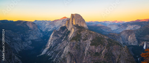 Panoramic View of Half Dome from Glacier Point in Yosemite National Park