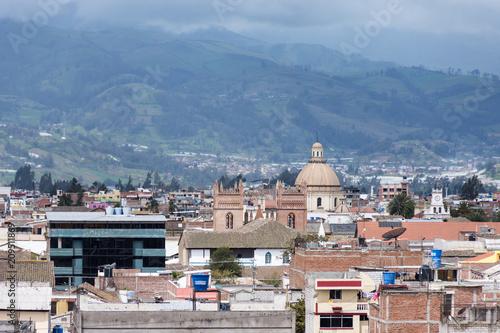 Fotobehang Zuid-Amerika land Ville de Riobamba, Équateur