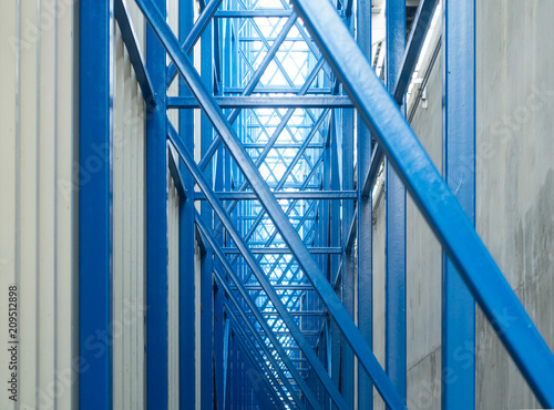 Stampa su Tela Blue steel structure and siding metal sheet