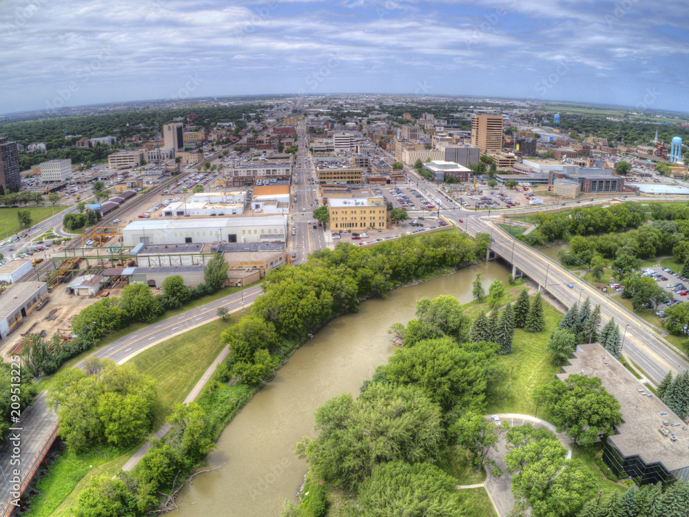Fototapety, obrazy: Fargo is a the largest City in North Dakota on the Red River