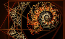 Abstract Fractal Background, Texture, Fractal Spiral