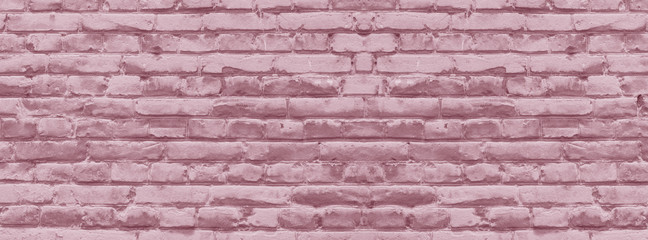 banner brick wall covered with neutral pink lime