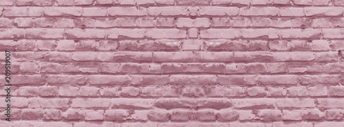 Obraz  banner brick wall covered with neutral pink lime - fototapety do salonu