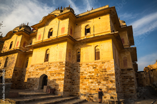 Foto op Canvas Asia land JAIPUR, INDIA-MARCH 4: Amer fort on March 4, 2018 in Jaipur, India. Amer fort on Holi