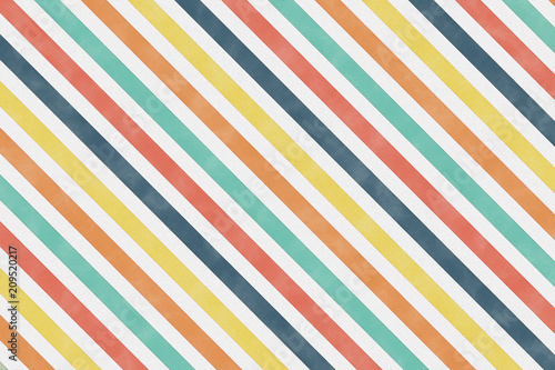 Colourful diagonal stripe pattern