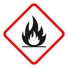FLAMMABLE SIGN. Rhombus. Vector.