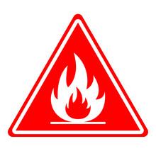 FIRE HAZARD Sign. Triangle. Ve...