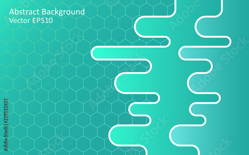 Foto op Canvas Abstractie Art Turquoise green abstract vector background