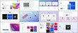 Vector templates for website design, minimal presentations, portfolio with vibrant colorful abstract gradient backgrounds. UI, UX, GUI. Design of headers, dashboard, contact forms, features page etc