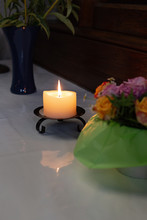 Votive Altar In Church With Gr...