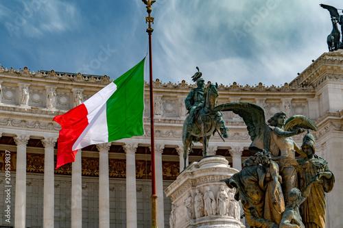 Fotobehang Historisch geb. Rome unknow soldier vittoriano palace