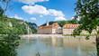 canvas print picture - Donaudurchbruch Weltenburg Kelheim -4