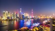 time lapse of charming shanghai cityscape at night, view from the north bund