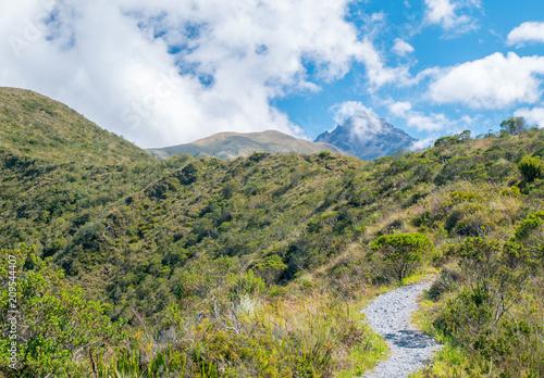 Fotobehang Zuid-Amerika land View of Cotacachi volcano in Ecuador, South America