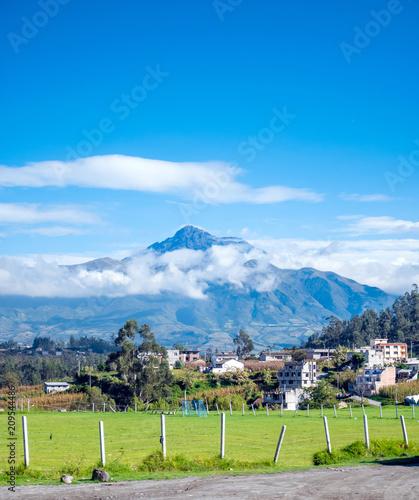 Fotobehang Zuid-Amerika land Cotacachi Volcano in Ecuador, South America