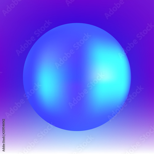 Finding Some Spots Of Bright Color At >> Vector Abstract Bright Colorful Neon Poster Illustration With Ball