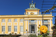 Beautiful Palace Wilanow In Warsaw. Capital Of Poland.