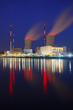 Nuclear Power Station At Night...