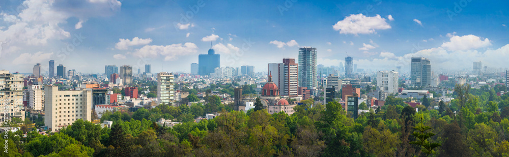 Fototapety, obrazy: Panoramic view of Mexico city.