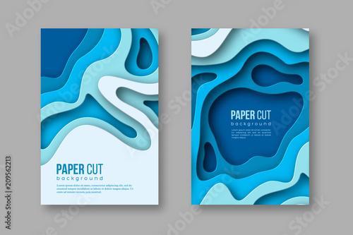 Fotografía  3d paper cut vertical banners