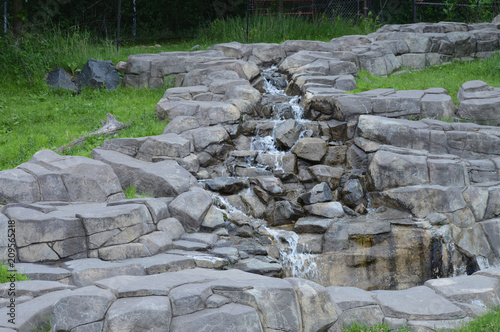 Waterfall over the rocks