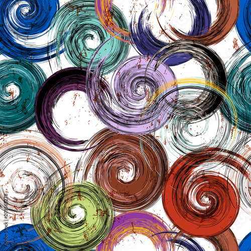 seamless background swirls pattern, strokes and splashes, grungy