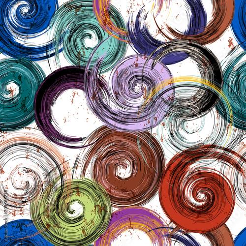 seamless background swirls pattern, strokes and splashes, grungy