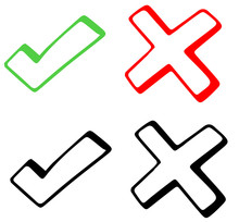 Check Mark Graphic On White Background